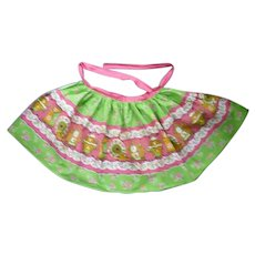 Great Old Fashioned Tea Party Print Apron