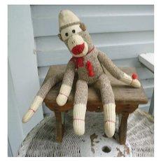 Vintage Hand Made Rockford Red Heel Sock Monkey Don Gaspar