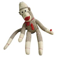 Vintage Hand Made Rockford Red Heel Sock Monkey Don Gaspar