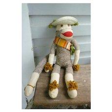 Vintage Hand Made Rockford Red Heel Sock Monkey Jesus