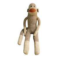 Vintage Hand Made Rockford Red Heel Sock Monkey Big John