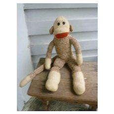 Vintage Hand Made Rockford Red Heel Sock Monkey Ben