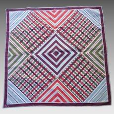 Vintage Vera Pop Art Plaid Stripes and Chevrons Scarf