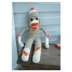 Vintage Hand Made Rockford Red Heel Sock Monkey Billy