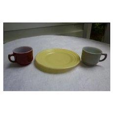 Moderntone Little Hostess Cups and Plate Set of 3