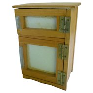 Old Fashioned Wooden Ice Box Ice Chest for Doll House