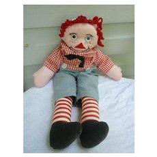 Funny Handmade Vintage Raggedy Andy Doll Googly Eyes