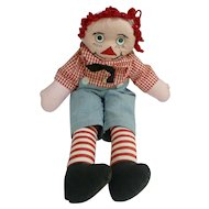 Funny Handmade Vintage Raggedy Andy Doll Googly Eyes