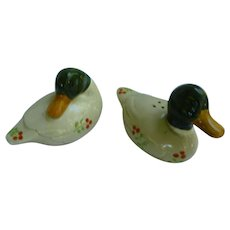 Colorful Ceramic Mallards Salt and Pepper Set