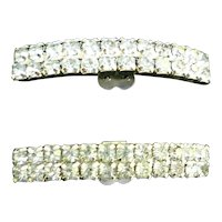 Vintage Sparkly Rhinestone Shoe Clips