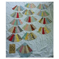 1930's Fabrics Fan Quilt Blocks