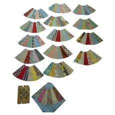 1930's Fabrics Fan Quilt Blocks