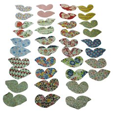 1930's Fabrics Butterfly Cuts to Applique on Quilt Blocks