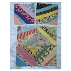 Six Vintage Quilt Blocks For A Cushion