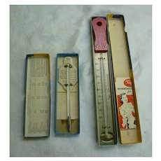 Taylor Roast Meat and Poultry Thermometer and Deep Frying Guide Set in Boxes