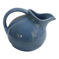 Vintage Harlequin Pottery Novelty Creamer in Original Mauve Blue Glaze