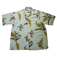 Hilo Hattie Tropical Foliage Print Hawaiian Aloha Surfer Shirt  XL