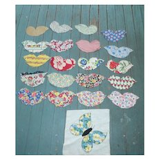 1930's Fabrics Butterfly Cuts to Applique on Quilt Blocks Set