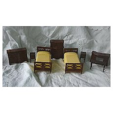Renwal Dollhouse Bedroom Suite 8 Piece 3/4 Scale