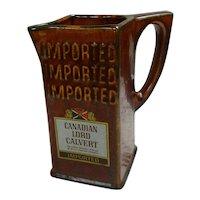 Lord Calvert Canadian Whiskey Bar Pitcher Water Jug