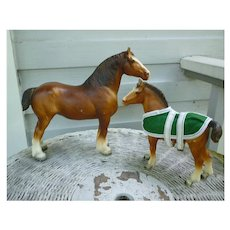 Clydesdale Mare and Foal Gift Set Breyer Mold #83 and #84
