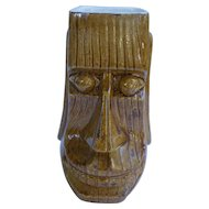 Signed Johnny Sens Smiling Moai Tiki Mug New Orleans 1960s