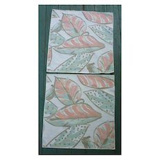 Set of 2 Vera Neumann Large Leaves Print Napkins