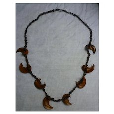 Boho Hippie Chic Apple Seeds and Pods Necklace