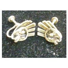 Intricate Beau Silver Screwback Earrings