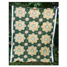 Turfan by Victoria Ways English Flowers Medallions Vintage Decorator Fabric