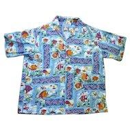 Reyn Spooner Fabulous Fish Print Hawaiian Aloha Surfer Shirt XL