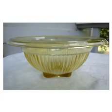 Hazel Atlas Yellow Federal Glass Mixing Bowl
