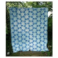 Columbia Star Baby's Blocks Quilt Blue and White