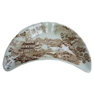 Royal Crownford Tonquin Brown and White Bone Dish