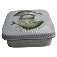 Hand Painted Sardine Serving Dish with Lid M M V Co Germany