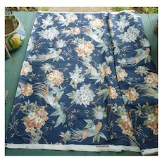 5th Avenue Designs Birds and Flowers Print Decorator Fabric 9 1/3 Yards