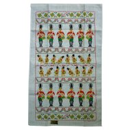 Kay Dee Christmas Drummers Linen Tea Towel Dawn Nunes Design