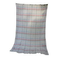 Rustic Stripes On Oatmeal Woven Cotton Bedspread