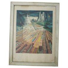 R F & P Potomac Yard Railroad Print Framed