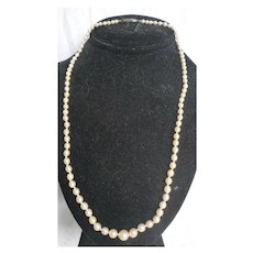 Delicate Graduated Single Strand Cultured Pearl Necklace