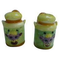 Colorful Ceramic Milk Jugs Salt and Pepper Set