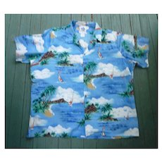 Hilo Hattie Fabulous Print Hawaiian Aloha Surfer Shirt 4XL
