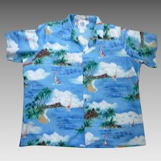 Hilo Hattie Fabulous Print Hawaiian Aloha Surfer Shirt 4XL
