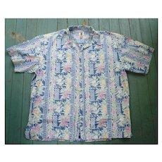 Tori Richard Fabulous Reverse Print Hawaiian Aloha Surfer Shirt 3XL