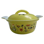 MidCentury Markley Design Descoware Belgium Cast Iron Enamel Pot Dutch Oven Casserole