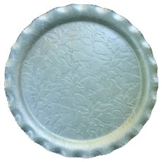 Admiration Products Forged Aluminum Serving Tray Embossed Flowers and Leaves
