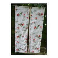 Pair of Cheerful Cherries Print Valences