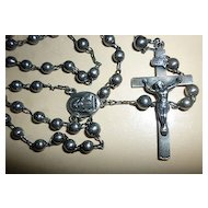 Lovely Vintage Sterling Silver Catholic Rosary