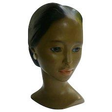 Polynesian Princess Chalkware Head Bust