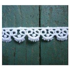 Delicate Cotton Lace Trim 10 ½ Yards